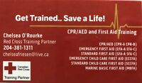 Standard First Aid Sept 8/9 in The Pas 130$ per person