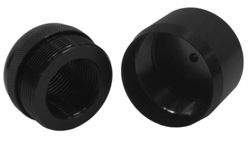 Adapter Maglite D Cell Thread Smooth End Cap 13/16-16 & Cap(Anodized Black)97/80