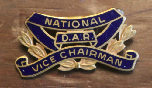 Vntg DAR Daughters American Revolution National Vice Chairman Pin JE Caldwell GF