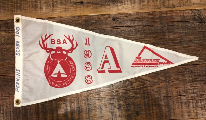 Boy Scout National Camp Accredited Banner 1988