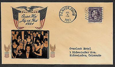 The Shining Overlook Hotel 4th of July Ball Featured on Collector Envelope 1097O