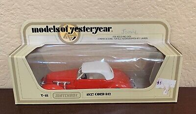 Matchbox Models Of Yesteryear Y-18 1937 CORD 812 New In Box Antique Car