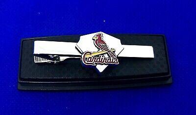 Cardinals Tie Clip St. Louis Cardinals Baseball Diamond Tie Bar Tie Clasp NEW