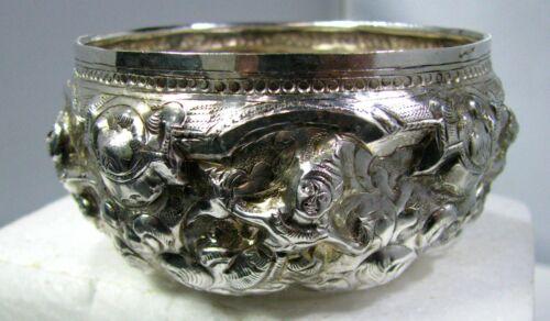 Vintage Burmese Thai Repousse Silver Monk Begging or Alms Bowl  (Thabeik)