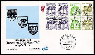 Berlin H-Blatt 21 FDC, Burgen + Schlösser 1982