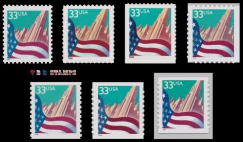 3277 3278 3278F 3279 3280 3281 3282 City Flag 33c Complete Set 7 MNH - Buy Now