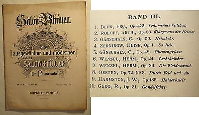 NOTEN - Salon-Blumen - Album ausgewählter u moderner Salonstücke Piano Solo Bd 3