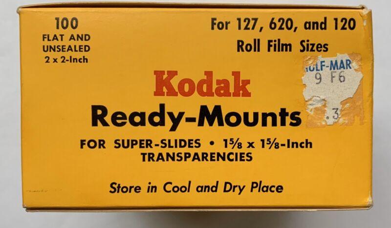 BOX OF 90+ Kodak Ready-Mounts 1-5/8 X 1-5/8 inch Transparencies, NOS