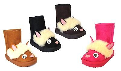 New Kids Boots 3D animal Boot Warm cute Sheep Slipper Baby Toddler Girl-2093 (Toddler Animals)