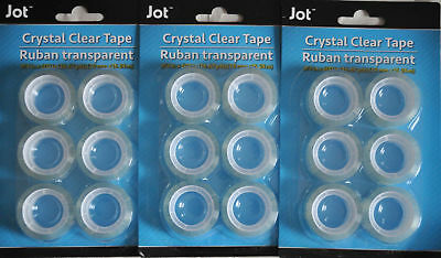 Crystal Clear Tape Ruban Transparent 34 In X 600 In 16.67 Yards