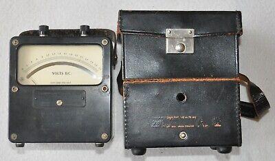 Vintage Weston Electrical Model 931 Dc Volt Meter With Leather Case - 0-3 Volts