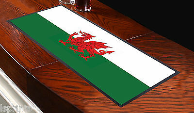 Welsh Flag Wales Design Bar Runner Cocktail Party Pub Club Shop Great Gift Idea