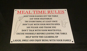 Funny-Sign-FAMILY-MEAL-TIME-RULES-present-A5-house-kitchen-3-options