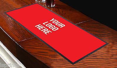 individuell mit Barmatte alle Logo rot Handtuch Läufer pub Untersetzer Bier