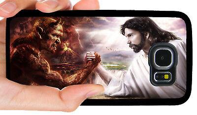 JESUS GOOD VS EVIL DEVIL PHONE CASE FOR SAMSUNG NOTE & GALAXY S4 S5 S6 S7 S8 (Note 4 Vs Note 5 Vs Note 7)