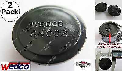 2-pack Wedco Black Stopper Seal Discs 84002 Replacement Gas Can Parts Briggs New