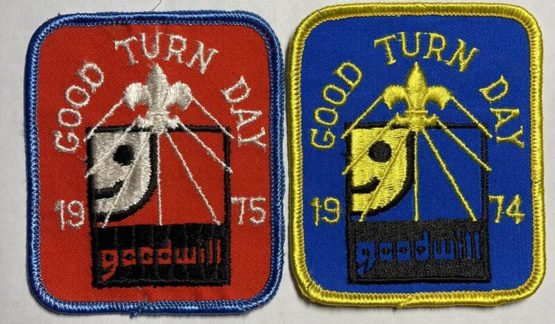 Royal Rangers Patch Lot 1974 1975 Goodwill Good Turn Red Blue Big