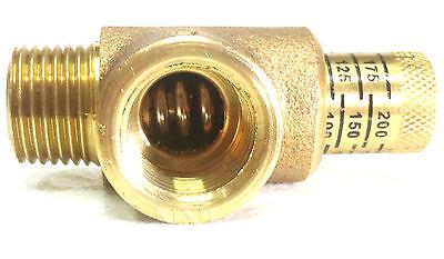 Nni 12 Npt Calibrated Pressure Relief Valve 50-200 Psi Adjustment Bpr050c