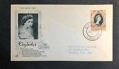 Swaziland 1953 Coronation FDC First Day cover