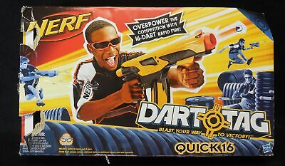 Nerf 1G Dart Tag Quick 16 Blaster Gun includes 8 Darts & Instructions