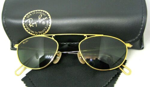 Ray-Ban USA NOS Vintage B&L Mod Aviator W2003 Pinpoint Etched New Sunglasses