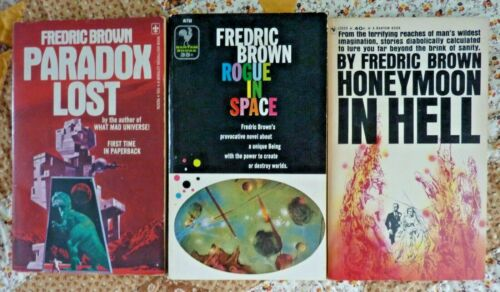 Fredric Brown - 3 pbs - Rogue In Space, Paradox Lost & Honeymoon in Hell