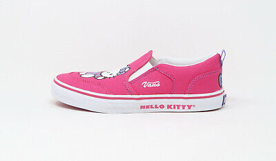 Boys White Vans Shoes (Vans Kids Children Youths Girls Boys Shoes Asher Hello Kitty Pink)