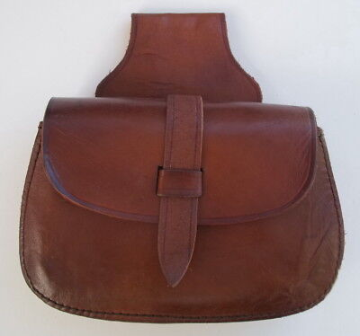 "Leather Medieval Belt Bag #2 - (Brown)-  Ren Fairs - Reenactments - ""NEW"""