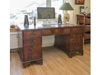 Faux leather topped 'Partners' desk