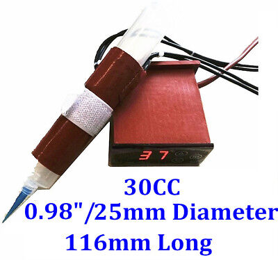30cc Air Syringe 116mm Long 25mm Diameter 110v 35w Heater W Digital Controller