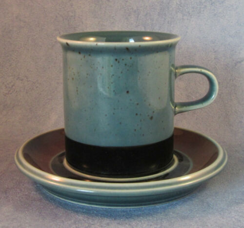 ARABIA OF FINLAND, Vintage, Meri Coffee Cup & Saucer, Excellent