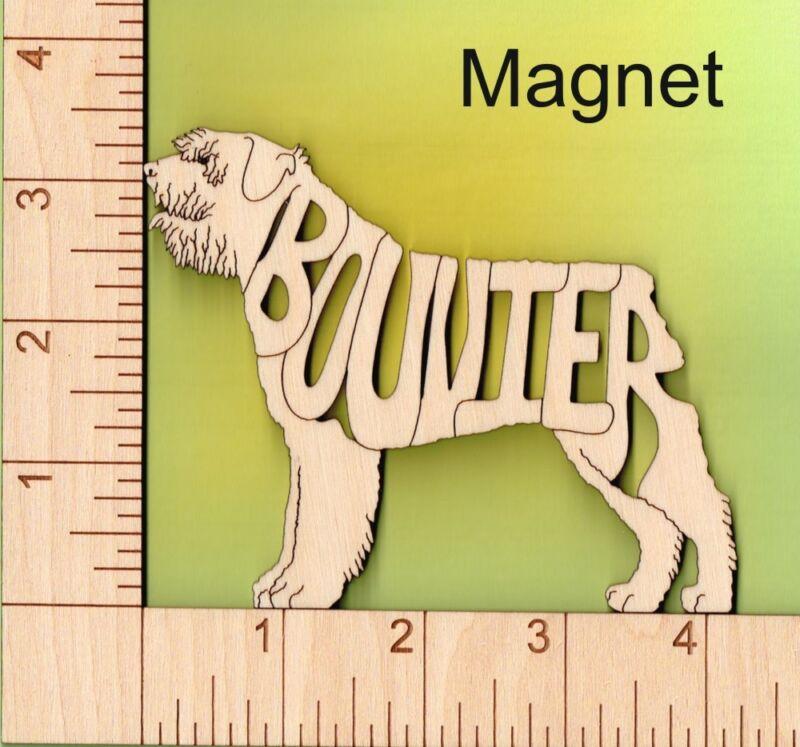 Bouvier des Flandres Dog laser cut engraved wood Magnet Great Gift Idea
