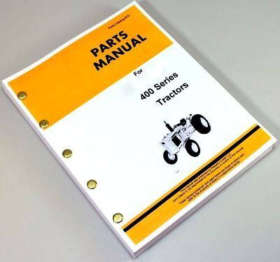 Parts Manual For John Deere 400 Jd400 Tractors Loader Backhoe Catalog Assembly