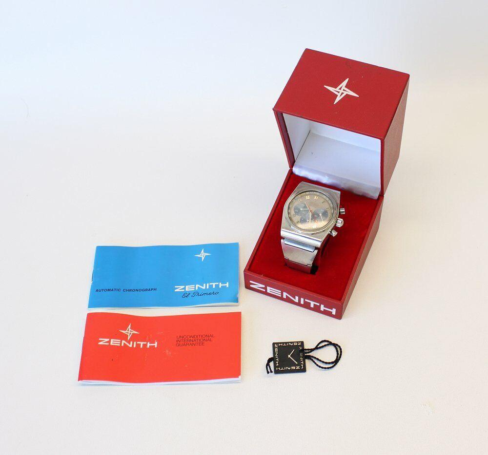Vintage Zenith El Primero Chronograph Automatic Defy Stainless Steel Wristwatch - watch picture 1