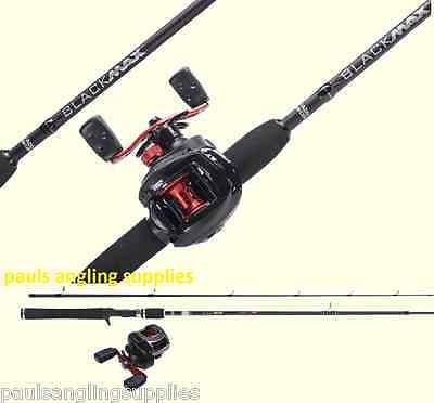 Abu Garcia BlackMax Left Hand Fishing Rod & Reel Baitcasting Spin Spinning