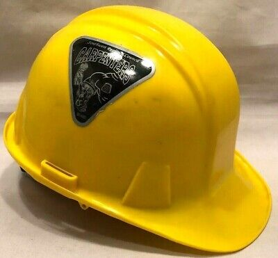 Plastic Safety Hard Hat Yellow Carpenter Construction Adjustable Headband