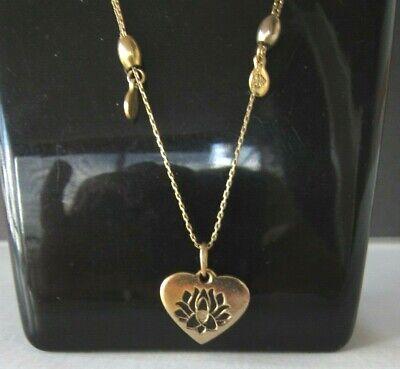 Alex and Ani LOTUS PEACE PETALS Adjustable Heart Necklace goldtone Peace Heart Necklace