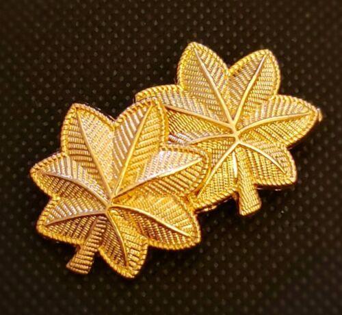 US ARMY Major Oak Leaf Rank Military Insignia Gold Plated SET