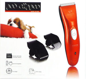 PROF ELECTRIC CORDLESS PET HAIR CLIPPERS dog cat horse cleaning grooming set