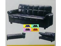 !!LUXURY !! FABRIC STORAGE SOFA BED,3 SEATER SLEEPER FAUX LEATHER SETTEE BEST BUY