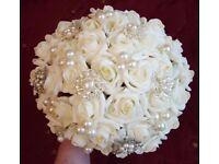 foam flower bridal bouquet