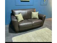Gorgeous 2 seater brown leather sofa from Natuzzi