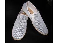 Stripe Knit Espadrille - U.K Size 8 - White