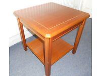 Teak Lamp Table With Shelf