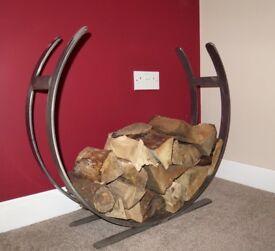 Hand Made Log Holder/Basket