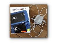 NINTENDO Handheld Console 3DS XL - Metallic / Blue - (Incl. 2 Games)