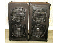 """Pair of 2 x 12"""" Guitar Cabs with Vintage McKenzie Speakers"""