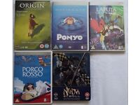 Japanese Animation Assorted DVDs +1 Blur Ray