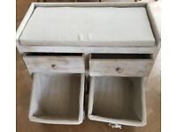 Seat with Storage Baskets and Drawers