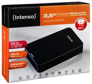 Intenso Memory Center Desktop Harddisk 8 TB
